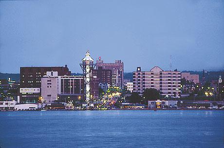 Erie PA cityscape